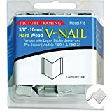 Logan Graphics Framing Hardware Frame Joiner V-Nails 3/8 Inch For Hardwood, Package of 200 for Framing, Joining Wood Corners or Stretcher Bars