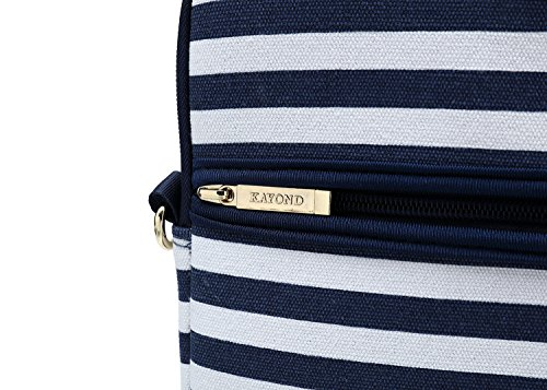 Kayond Canvas Fabric Ultraportable Neoprene Laptop Carrying Case/Shoulder Messenger Bag/Daily Briefcase Work/School/Travel(15-15.6, Breton Stripe) by kayond (Image #8)