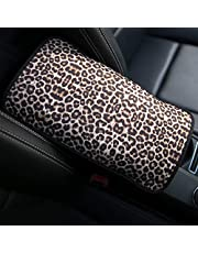 YR Vehicle Center Console Armrest Cover Pad, Universal Fit Soft Comfort Center Console Armrest Cushion for Car, Stylish Pattern Design Car Armrest Cover