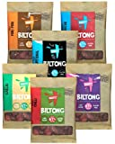 Best Biltong Flavour Fest 6 x 35g Bags - Healthier Snack Than Beef Jerky. 1 Each Of 6 Great Flavours: Teriyaki, Chilli, Traditional, Peri Peri, Garlic, BBQ. From BEEFIT Snacks - Award Winning Maker. Also 1kg, 500g, sizes.