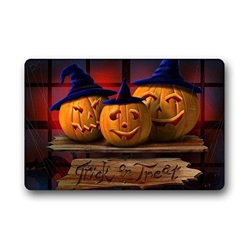 Best Music Posters Hi,Doormat Happy Halloween Pumpkin Indoor/Outdoor Non-Slip Rubber Doormats Door Mat 23.6 x 15.7 Inches -