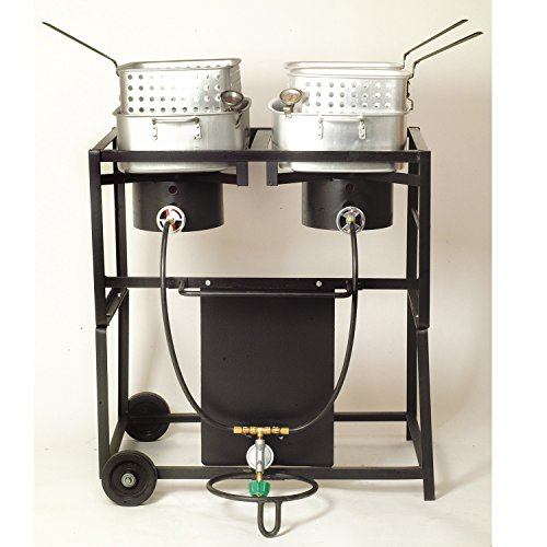 double basket outdoor fryer - 3