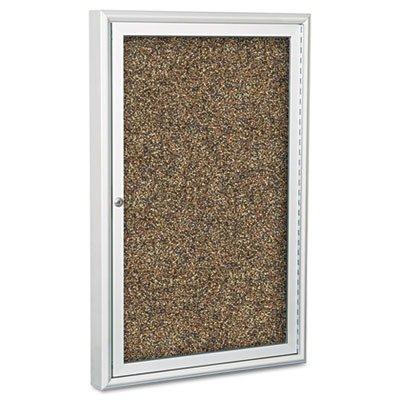 BestRite 3 x 2 Feet Outdoor Enclosed Bulletin Board Cabinet, Tan Rubbertak (94PSB-O-95)