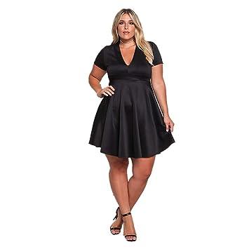 TDPYT Un Vestido Largo/Vestido De Punto De Manga Corta Negro XL