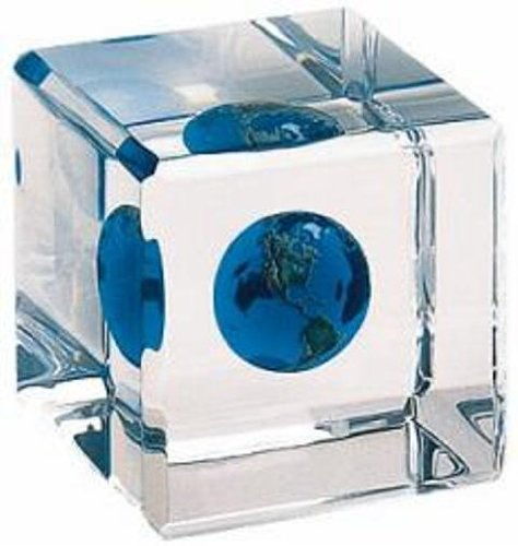 Shasta Earth Marble in a Cube