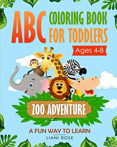 Abc Zoo Alphabet Puzzle - ABC Coloring Book for Toddlers Zoo Adventure (4-8) A fun way to learn .