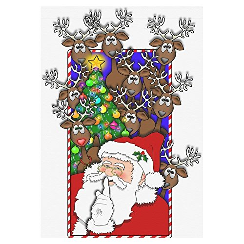 Pingshoes Christmas Holiday Polyester Garden Flag Outdoor Ba