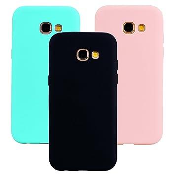 Funda Samsung Galaxy A5 2017, 3Unidades Carcasa Galaxy A5 2017 Silicona Gel, OUJD Mate Case Ultra Delgado TPU Goma Flexible Cover para Samsung A5 ...
