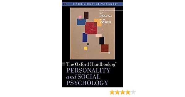 Amazon.com: The Oxford Handbook of Personality and Social ...