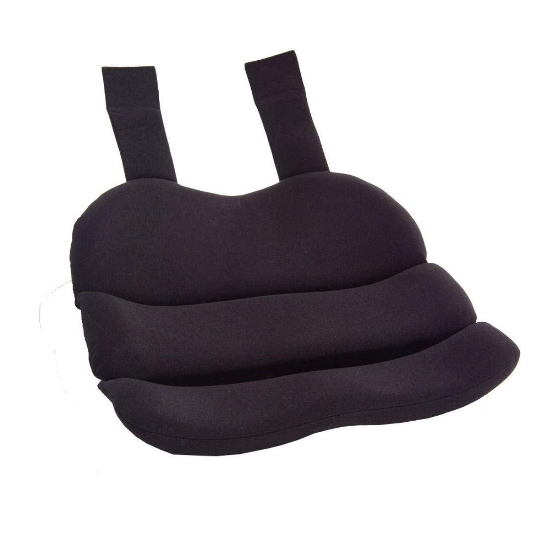 ObusForme Black Contoured Seat Cushion, Hold Pelvis And Hips In A Balanced Position, High-Density Foam For Superior Comfort, Flexible Support Panel To Evenly Distributes Body Weight by ObusForme