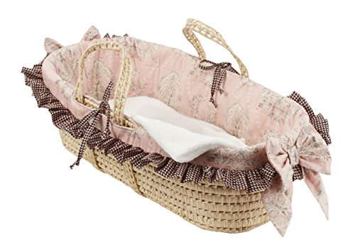 Cotton Tale Designs Moses Basket, Nightingale (Baby Bassinet Basket)
