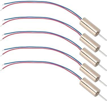 Micro Coreless Motor lange Betriebszeit geringer Stromverbrauch 5 St/ück 6 x 14 mm Micro Coreless Motor 3V 53200 U//min f/ür Spielzeug//T/ätowiermaschinen//Drohnen