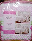 NICOLE MILLER Kids Reversible BIRDS FLORAL TWIN SIZE QUILT SET (includes 1 sham)