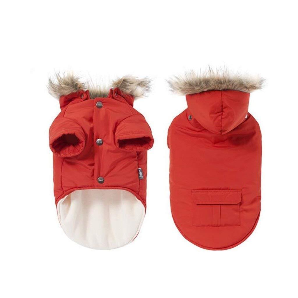 L LLYU Pet cat Dog Down Jacket Hooded Jacket pet Clothes Warm Clothes Winter (Size   L)