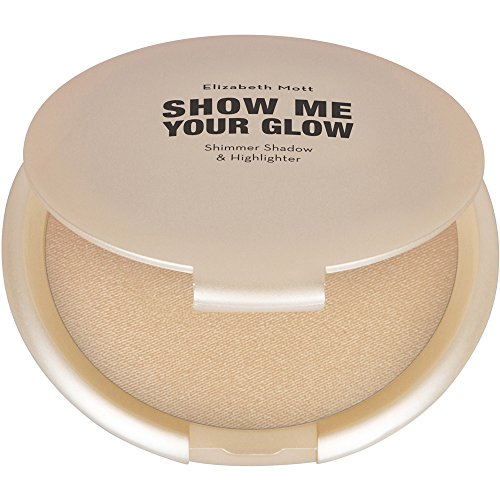 (Natural Face Glow Highlighter Makeup:Elizabeth Mott Show Me Your Glow Shimmer Shadow and Highlighter-Illuminating Pearl Highlight-Paraben and Cruelty Free-Compact Powder Highlighters, 10g)