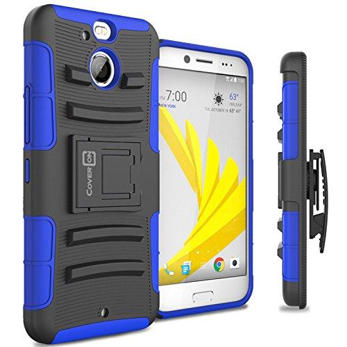 HTC Bolt / 10 Evo Case, CoverON [Explorer Series] Holster Hybrid Armor Belt Clip Hard Phone Cover For HTC Bolt / 10 Evo Holster Case - Blue