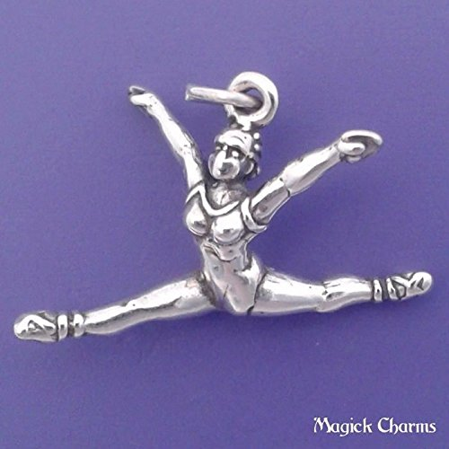 925 Sterling Silver 3-D Ballerina Ballet Dancer Charm Pendant Jewelry Making Supply, Pendant, Charms, Bracelet, DIY Crafting by Wholesale Charms