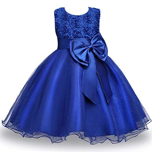 (Summer Dress for Children Flower Girls Dress Party Wedding Dress Elegant)
