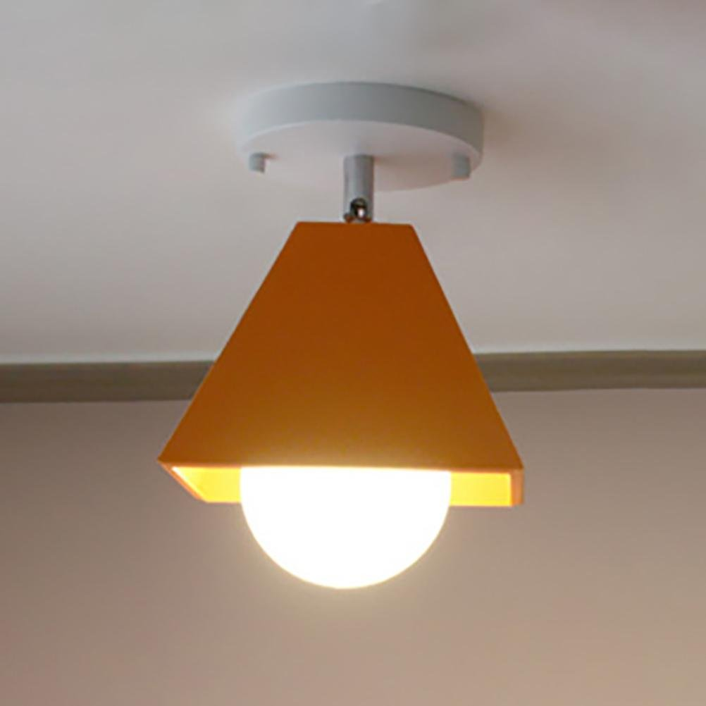 Orange Farbe Deckenleuchte Gang Schlafzimmer Balkon Schmiedeeisen Lampen , rot