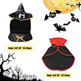 Cat Halloween Costume Witch Wizard Cloak with Hat By LESYPET - Cute Halloween Pet Costume for Yorkies, Maltese, Puppies, Cats, & Kittens