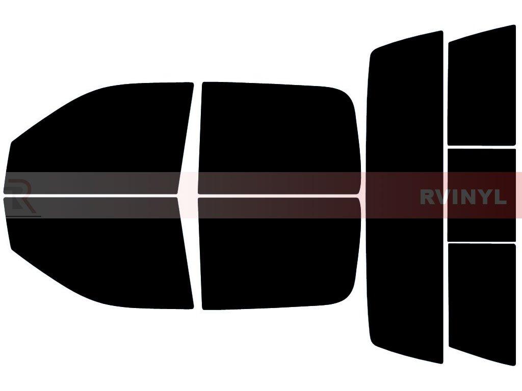 Rtint Window Tint Kit for Dodge Ram 1500 2500 3500 2009-2018 (4 Door) - Complete Kit - 5%