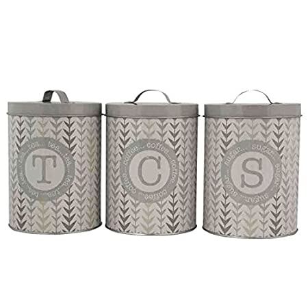 tea coffee sugar canister set pot storage containers modern neutral