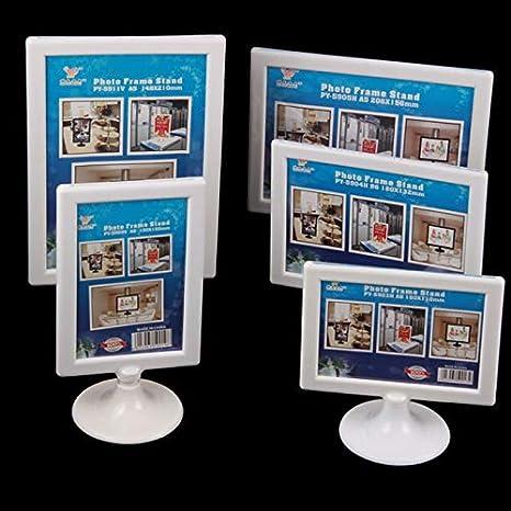 Color : B, Size : 100150mm LQQGXLFlyer Display Stand Poster Stand Desktop Poster menu Stand Leaflet Display Stand Wine Plate Menu Shelf