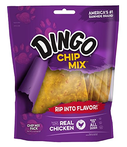 (Dingo Chip Mix Snack For All Dogs, Chicken, 16-Ounce)