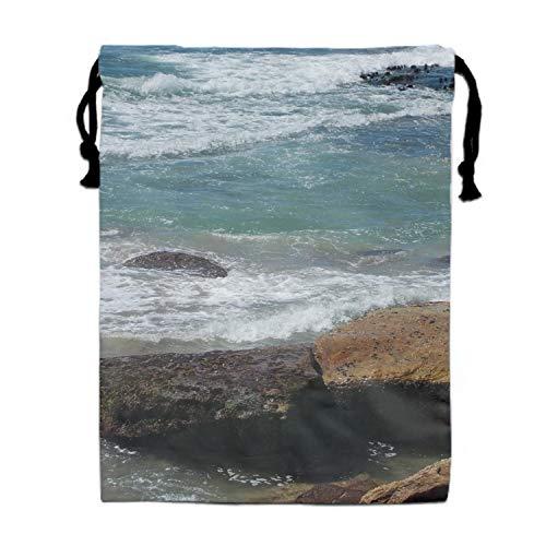 Ocean Cronulla Beach Sydney Australia Rock Water Wave Coast Drawstring Pouches Candy Jewelry Party Wedding Favor Present Bags 15.75/11.8