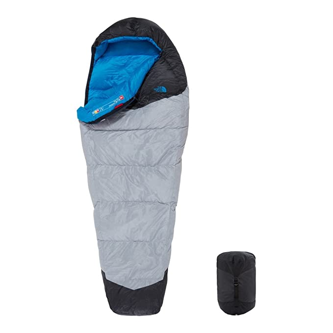 The North Face Kazoo Saco de Dormir, Unisex Adulto, High Rise Grey/Hyper Blue, Regular: Amazon.es: Deportes y aire libre