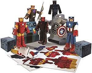 Avengers Marvel Assemble Papercraft Hydra Battle Heroes Pack: Amazon.es: Hogar