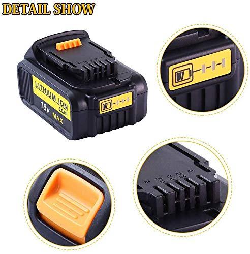2X 18V DCB184 Batteria 5.5Ah di Ricambio per Dewalt XR Lithium-Ion DCB181 DCB182 DCB183 DCB185 DCB200 DCB200-2 DCB205DCB181-XJ N123283 Trapano a Batteria