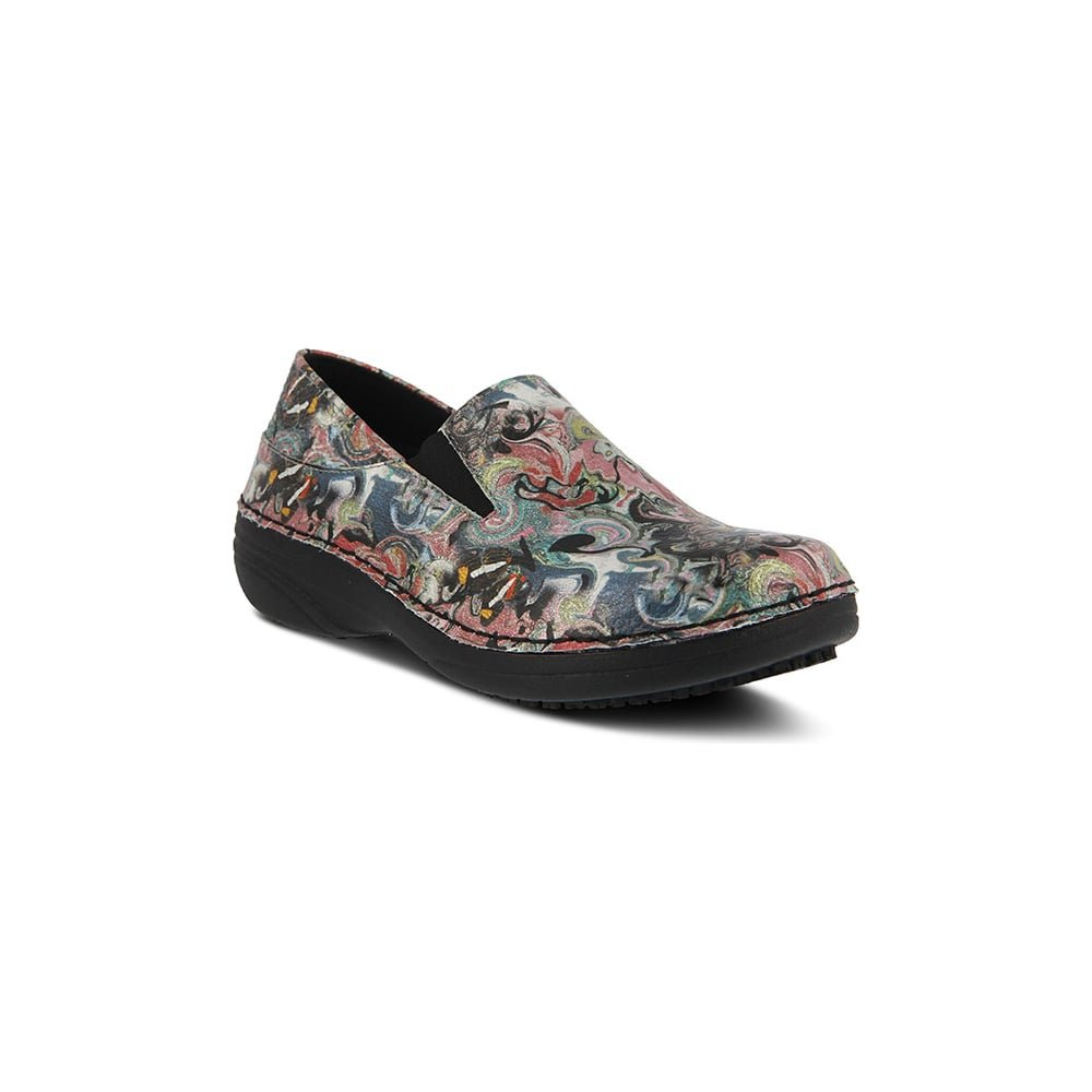 Spring Step Women's Manila Work Shoe B078XJK135 07H|Black Multi Paintpot