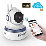 Wireless 1080P Security Camera, Corprit Home Surveillance IP Camera WiFi Baby Monitor with Night Vision, Pan/Tilt, Two way Talk by Android iOS App