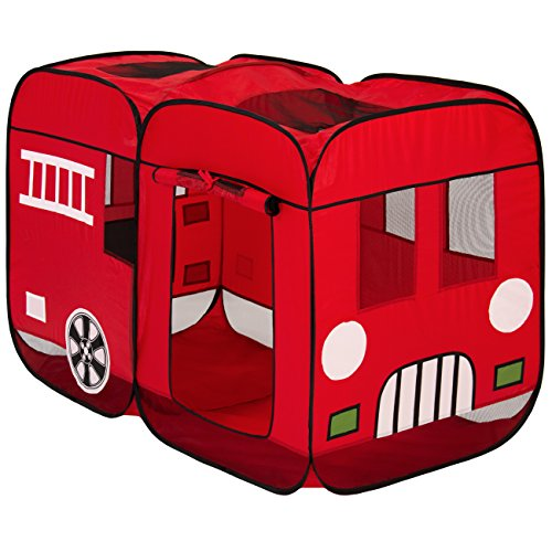 Best Choice Products Kids Pop-Up Fire Truck Play - Firetruck Tent For Kids