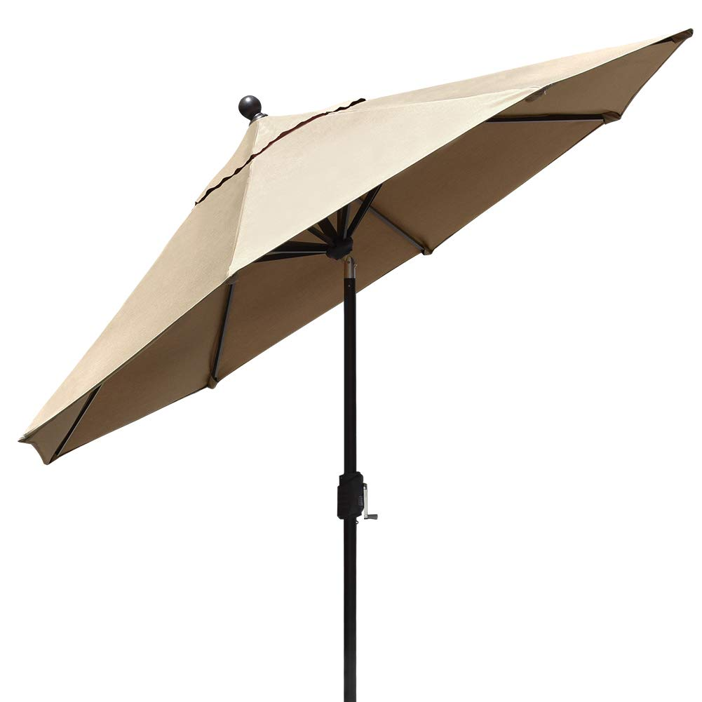EliteShade Sunbrella 9Ft Market Umbrella Patio Outdoor Table Umbrella with Ventilation (Sunbrella Heather Beige) by EliteShade (Image #2)