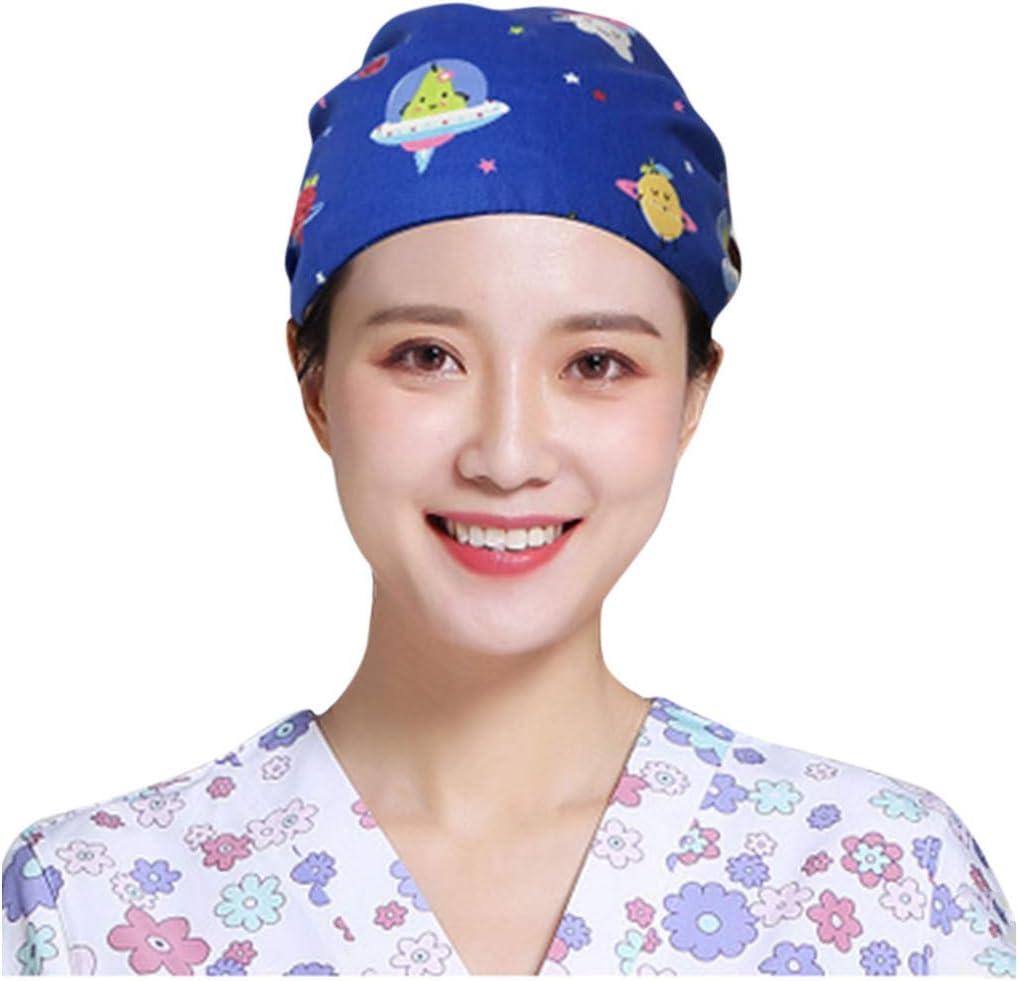 charts/_DRESS Doctor Surgical Scrub Hat,Unisex Nurse Scrub Cap Work Beautician Dustproof Hat,Bouffant Ponytail Hats,One Size Fit All