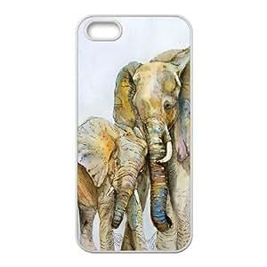 YananC(TM) YnaC201394 Customized Phone Case for Iphone 5,5S w/ Elephant Art