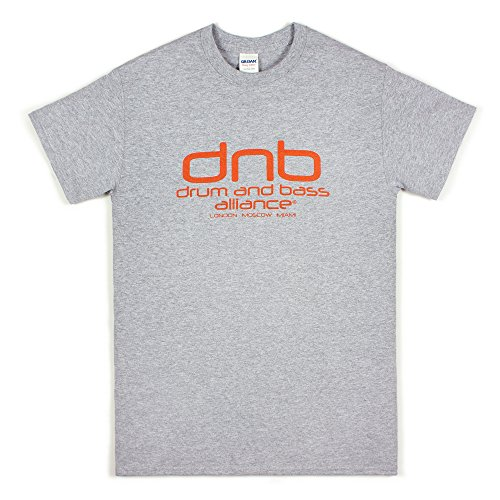 DJ T Shirt - Drum n Bass Alliance - Synthesizer Bass Synth Music Drum & Bass Producer (XXL) Grey
