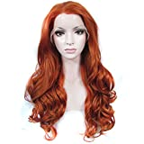 Imstyle Stunning Blonde Reddish Long Body Wavy Synthetic Heat Resistant Lace Front Wig