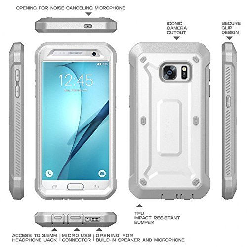 Galaxy S7caso, Full-body rugged funda carcasa sin Protector de pantalla para Samsung Galaxy S7Edge, Samsung Galaxy S7Beetle caso negro negro blanco