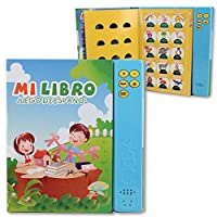 Pasaca Toys Kids Learning Book, Libro de Juguetes en Españal with 6 Learning Game, Learning ABC, Spelling, Españal Juguetos(Blue)