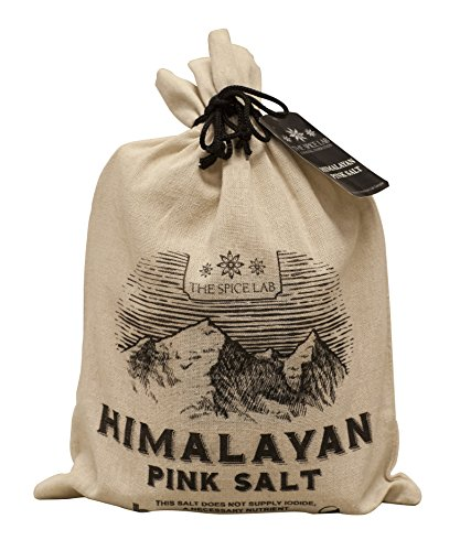 The Spice Lab Pink Himalayan Salt - Coarse 5 Pound Gift Bag - Gourmet Pure Crystal - Nutrient and Mineral Dense for Health - Kosher and Natural Certified - ()
