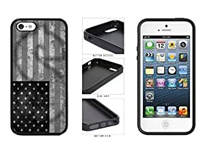 Black and White Money Stamp and USA Flag TPU RUBBER Phone into Case themselves Back Cover Apple iPhone program 5 5s and Kimberly Kurzendoerfer
