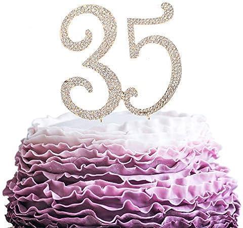 Anniversario 35 Matrimonio.Queen54ferna Decorazione Per Torta Per 35 Anni Di Compleanno