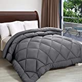 Rajasthan Crafts Soft Microfibre Quilt for Heavy Winter, Single Bed (60inch x 90inch), Dark Grey Colored Razai