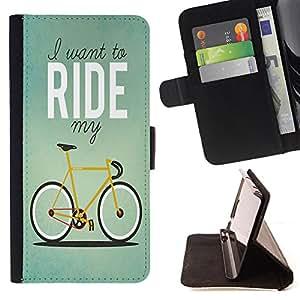 Super Marley Shop - Funda de piel cubierta de la carpeta Foilo con cierre magnšŠtico FOR Samsung Galaxy Note 4 SM-N910 N910 IV- Bicycle Retro