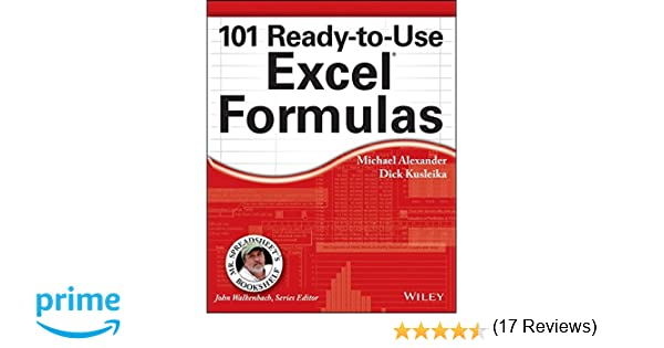 Amazon.com: 101 Ready-to-Use Excel Formulas (Mr. Spreadsheet's ...
