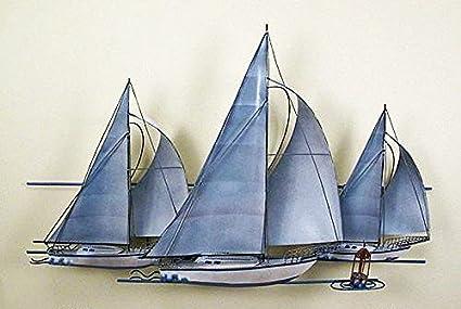 Amazon.com: Kensington Row Coastal Collection WALL ART - TRIO OF ...
