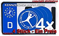 Rhönrad Turnen Leichtathletik NUMMERNSCHILD Aufkleber Autoaufkleber 4er Set